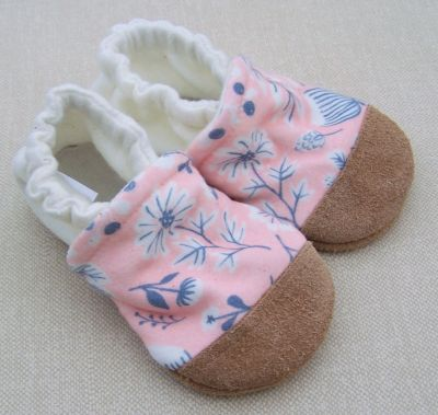 Pink Sugar Floral/White Heel, Ready to Ship, sz 18-24m
